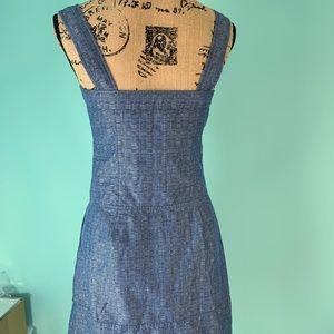 Derek Lam Dresses - Sleeveless Organic Cotton Chambray Dress K1608